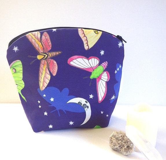 Moths in the Moonlight Zipper Bag