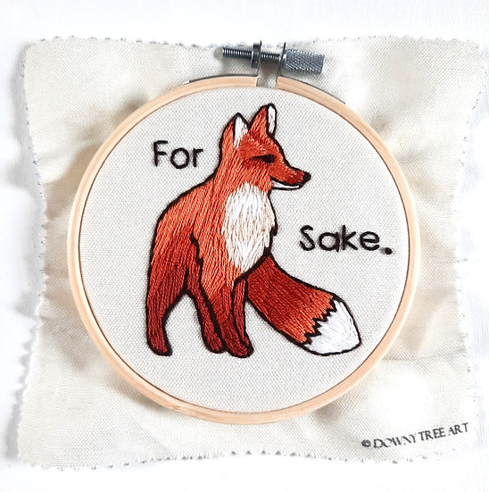 For Fox Sake Embroidery Kit
