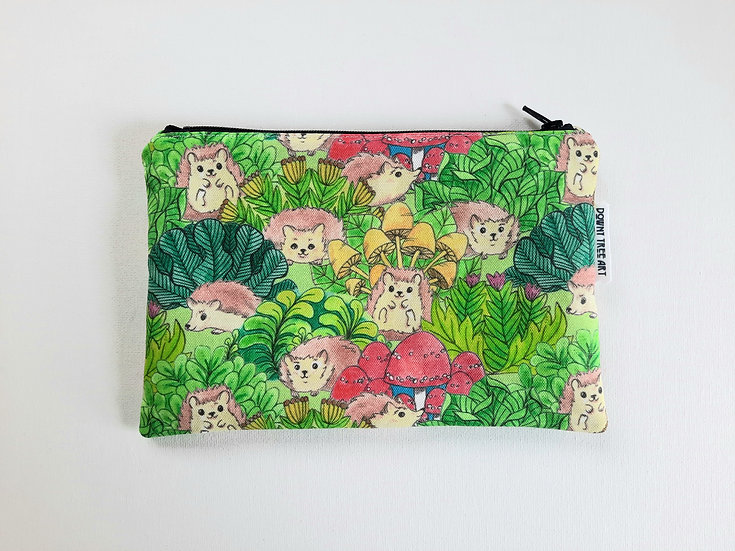 Hedgehog Garden Zipper Bag