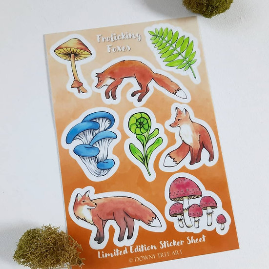 Frolicking Foxes Limited Edition Sticker Sheet