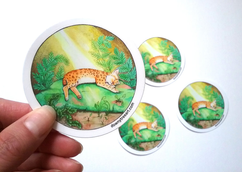 Cat Nap 3-inch Stickers