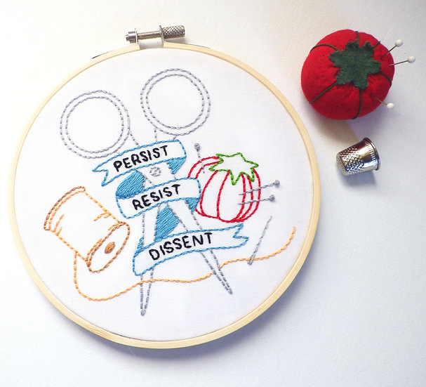 """""""Dissent"""" Embroidery Pattern/Kit"""