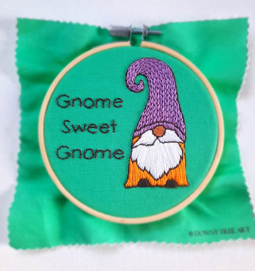 Gnome Sweet Gnome Embroidery Kit