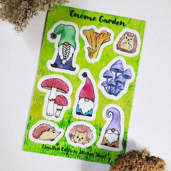 Gnome Garden Limited Edition Sticker Sheet