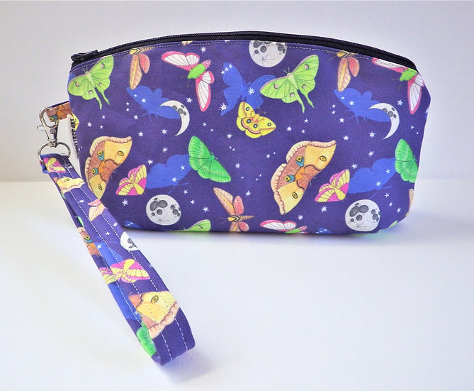 Moths in the Moonlight Wristlet Clutch