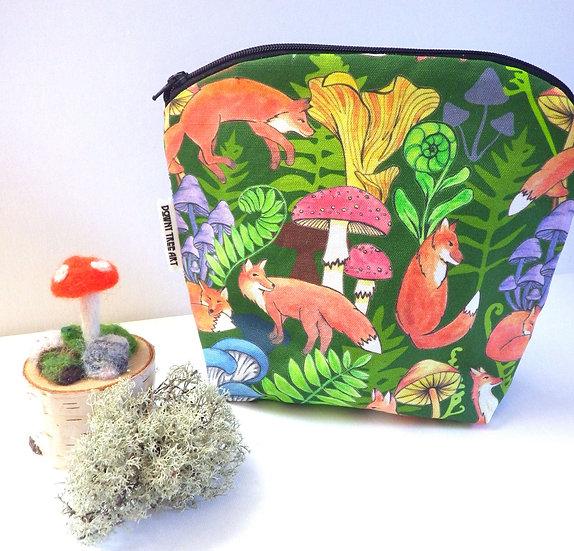 Foxes Zipper Bag