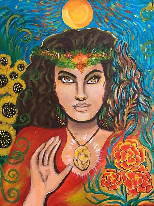 Fire Goddess, Acrylic Print