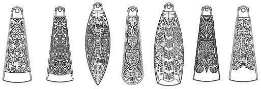 3D Printed Maori Toki Taonga Design Patterns