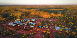 Mining camp setting