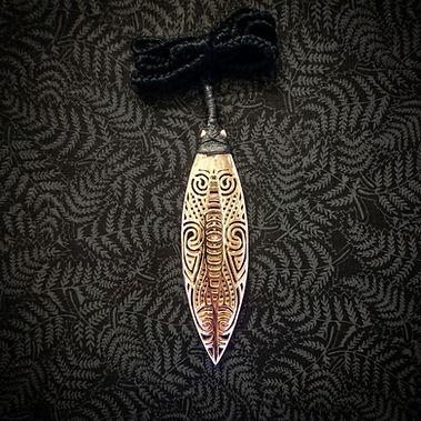 3D Printed Maori Toki Taonga in Rose Gold