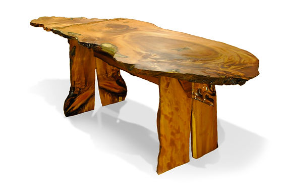 Maori Carved Kauri Table