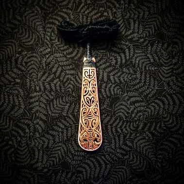 3D Printed Maori Roimata Taonga in Copper