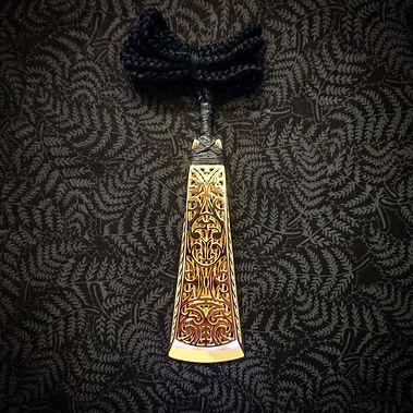 3D Printed Maori Toki Taonga in Gold