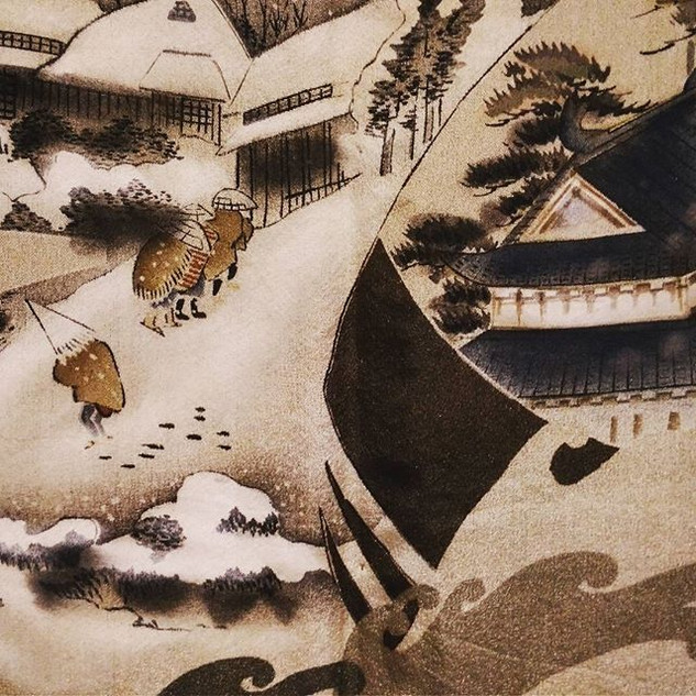 Travellers along the Tokaido road