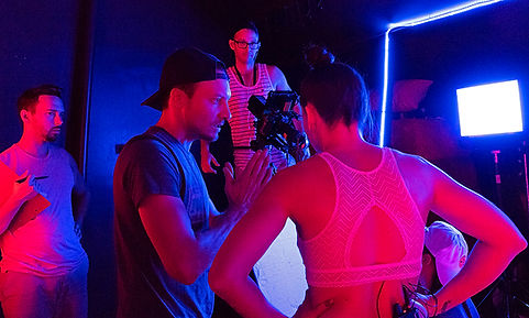 Ethan Frank directing the movie Collab