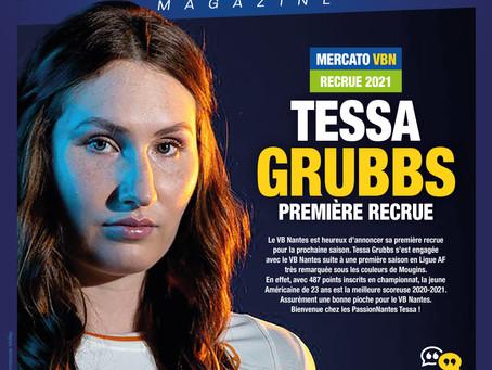 Tessa GRUBBS, première recrue du VB Nantes pour 2021-2022 !