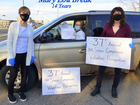 Our Senior Companions Celebrate With Drive Thru Recognition