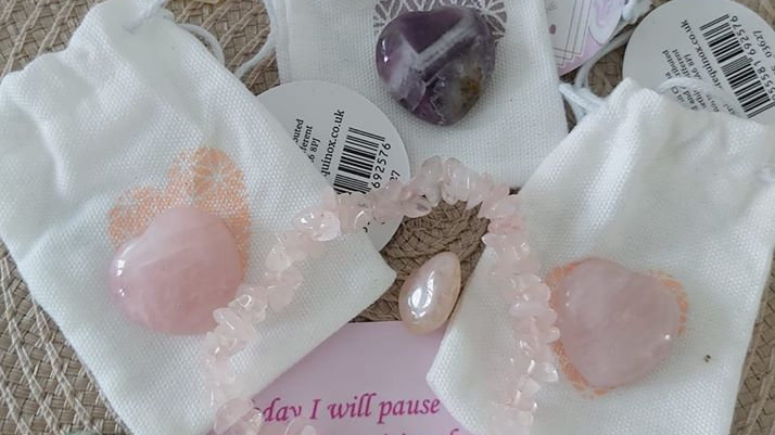 Crystal Rose Quartz Heart Gift