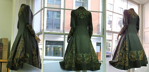 Lady Row Dress Coat with beetle wings