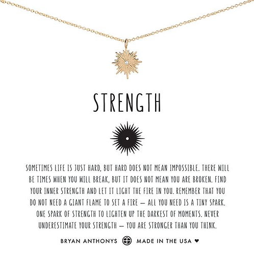 """Bryan Anthonys """"Strength"""" Gold Necklace"""