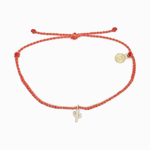 Pura Vida Cactus Charm Coral Bracelet