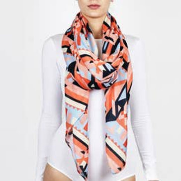 "Printed Village ""Bright Geo"" Scarf"