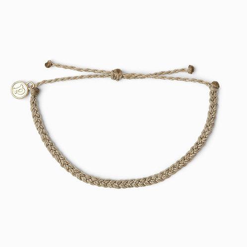 Pura Vida Mini Braided Light Grey Bracelet