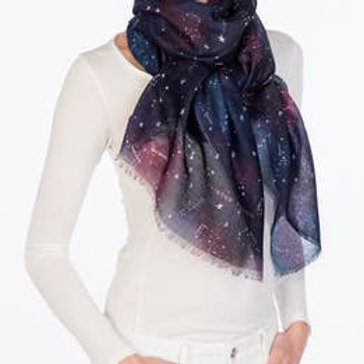 "Printed Village ""Zodiac Constellations"" Scarf"
