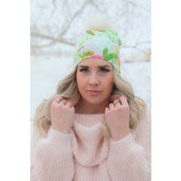 Bright Blooms Pom Pom Hat