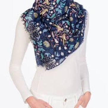 "Printed Village ""Victorian Birds"" Scarf"