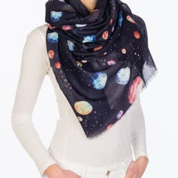 "Printed Village ""Planets"" Scarf"
