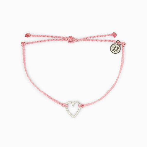 Pura Vida Open Heart Petal Pink Bracelet