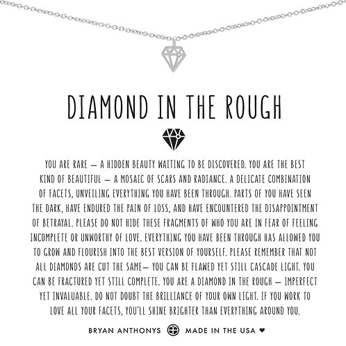 "Bryan Anthonys ""Diamond in the Rough"" Silver Necklace"