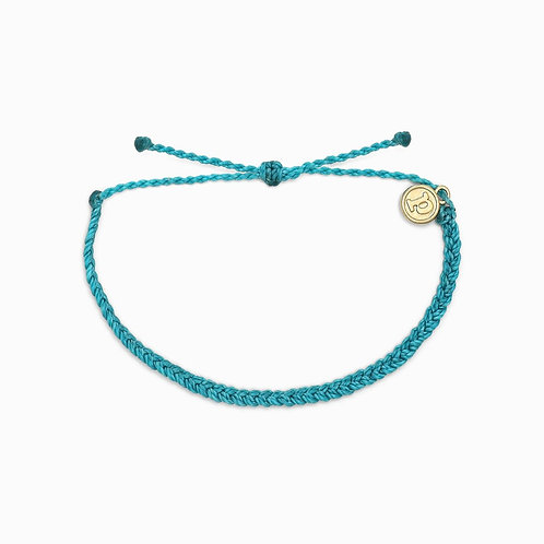 Pura Vida Mini Braided Pacific Blue Bracelet