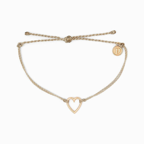 Pura Vida Open Heart Light Grey Bracelet