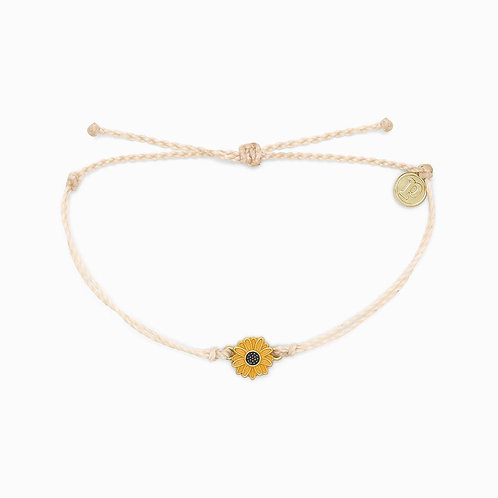 Pura Vida Sunflower Charm Bracelet Vanilla