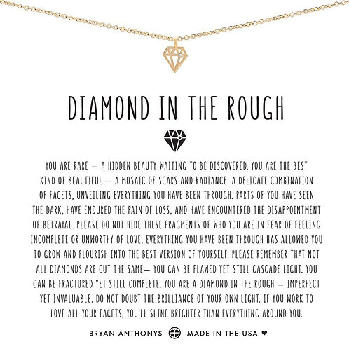 """Bryan Anthonys """"Diamond in the Rough"""" Gold Necklace"""