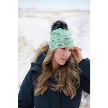 "Halo Mountain Explorer Pom Pom Hat ""Mint Green"""