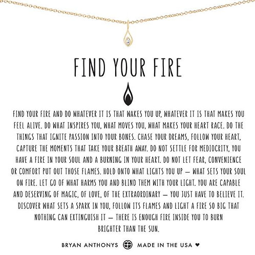 """Bryan Anthonys """"Find Your Fire"""" Gold Necklace"""