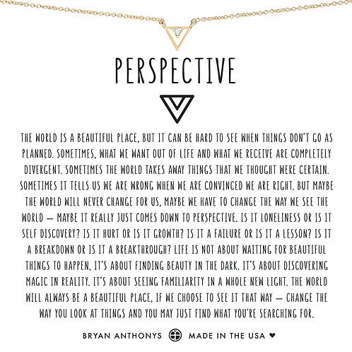 "Bryan Anthonys ""Perspective"" Gold Necklace"
