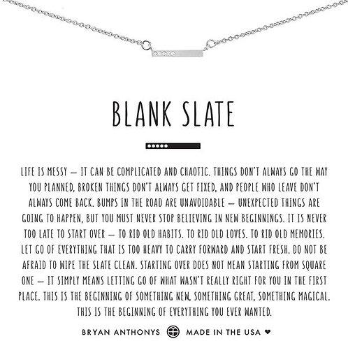"Bryan Anthonys ""Blank Slate"" Silver Necklace"