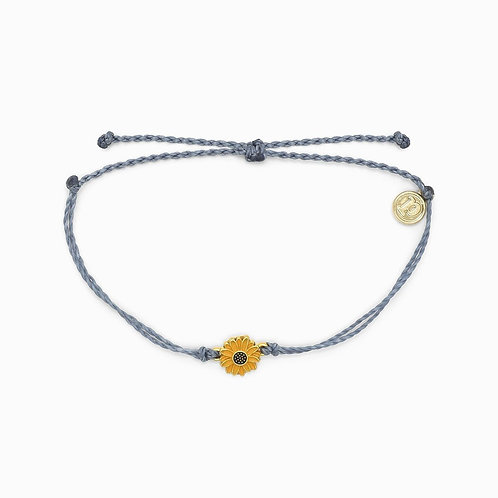 Pura Vida Sunflower Charm Bracelet Blue