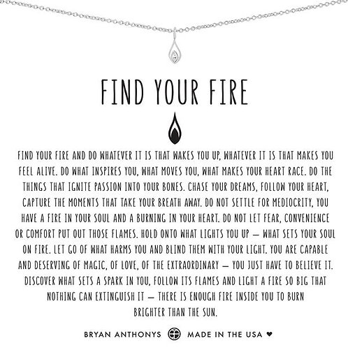 """Bryan Anthonys """"Find Your Fire"""" Silver Necklace"""