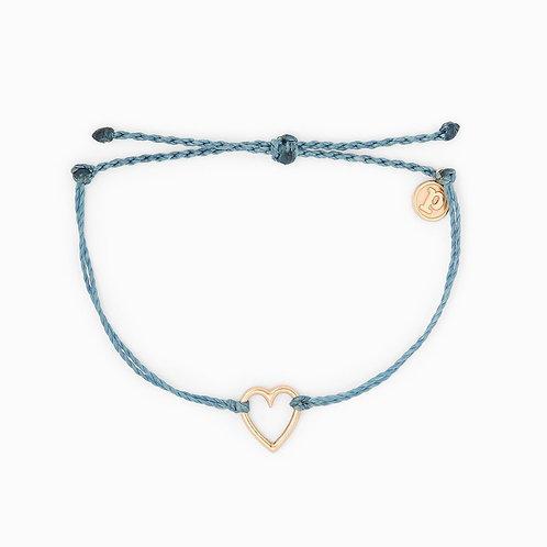 Pura Vida Open Heart Blue Bracelet