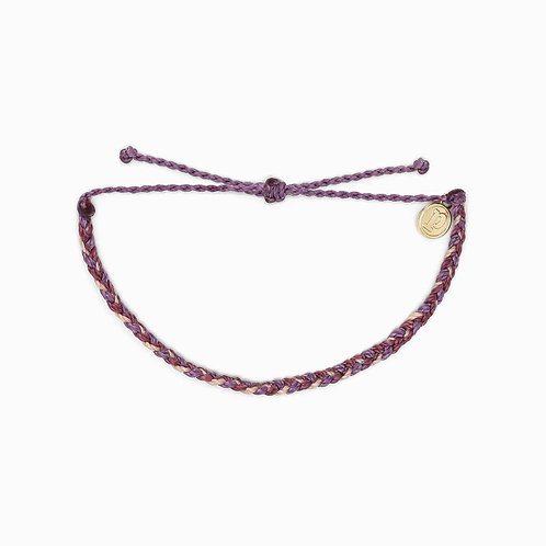 Pura Vida Mini Braided Purple Peak Bracelet