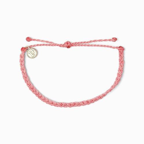 Pura Vida Mini Braided Petal Pink Bracelet