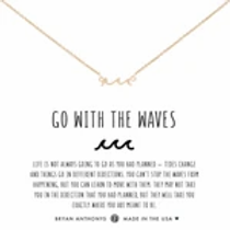 """Bryan Anthonys """"Go With The Waves"""" Gold Necklace"""