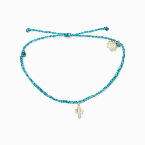 Pura Vida Cactus Charm Pacific Blue Bracelet