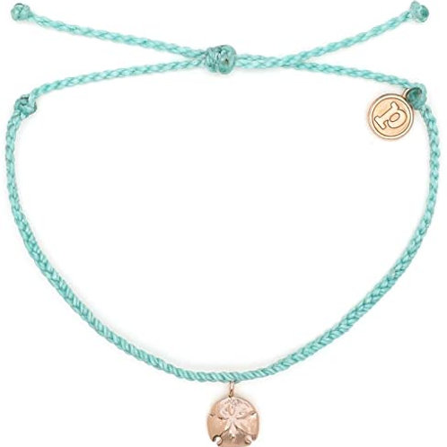 Pura Vida Sand Dollar Charm Seafoam Bracelet