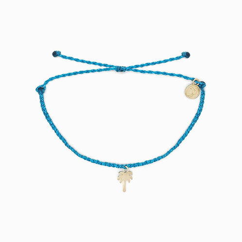 Pura Vida Neon Blue Palm Tree Bracelet